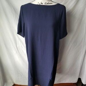 NWT Eileen Fisher Navy Blue 100% Silk Dress